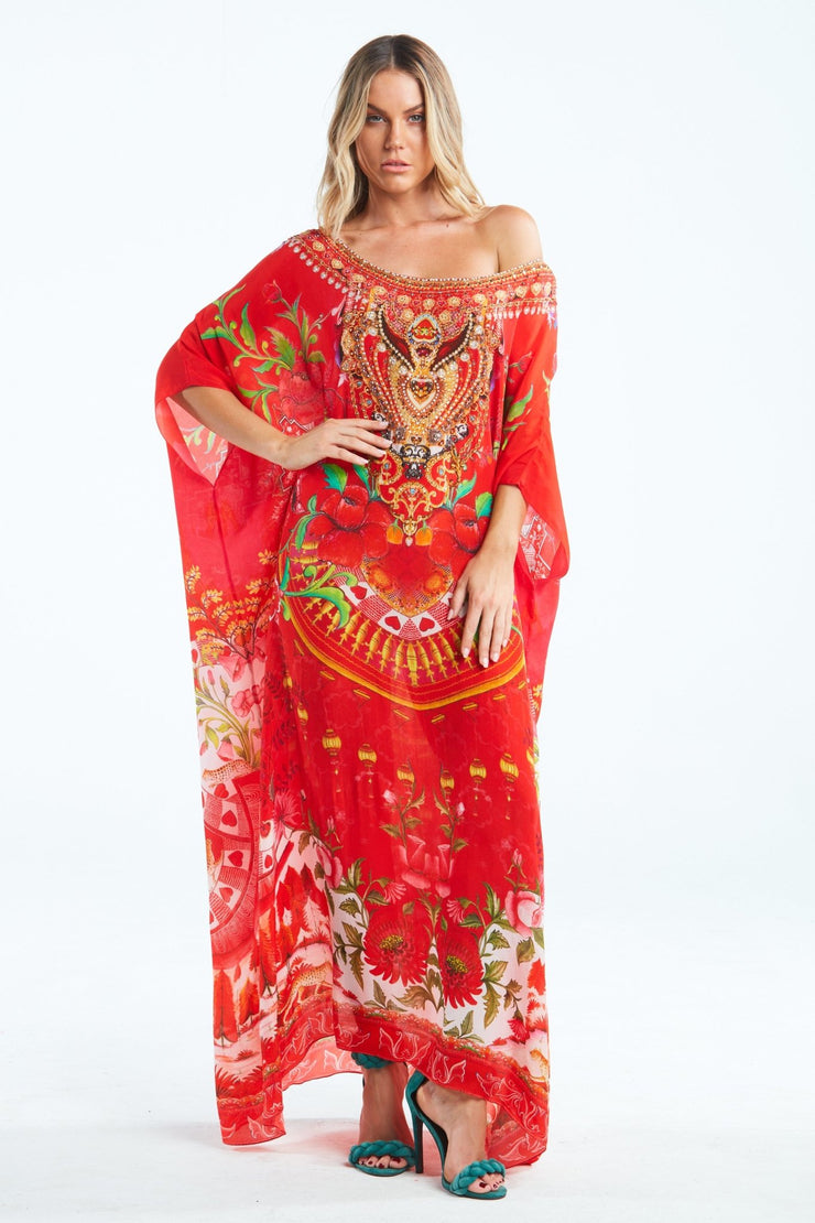 MORE THAN EVER ROUND-NECK LONG KAFTAN - Czarina