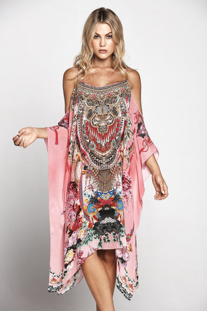 MORE THAN FRIENDS COLD-SHOULDER SHORT KAFTAN - Czarina