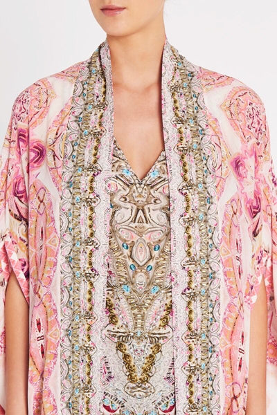 BOHEMIAN BLUSH SILK CAPE