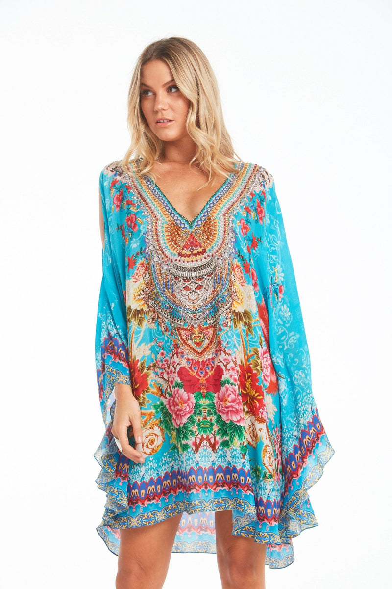 ONCE IN A BLUE MOON KAFTAN DRESS - Czarina