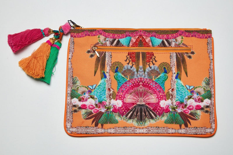 ORANGE TROPICAL CLUTCH - Czarina
