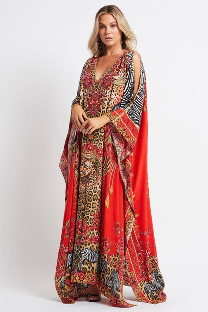 POWER AND PASSION BIG WIDTH SILK KAFTAN W SLIT - Czarina