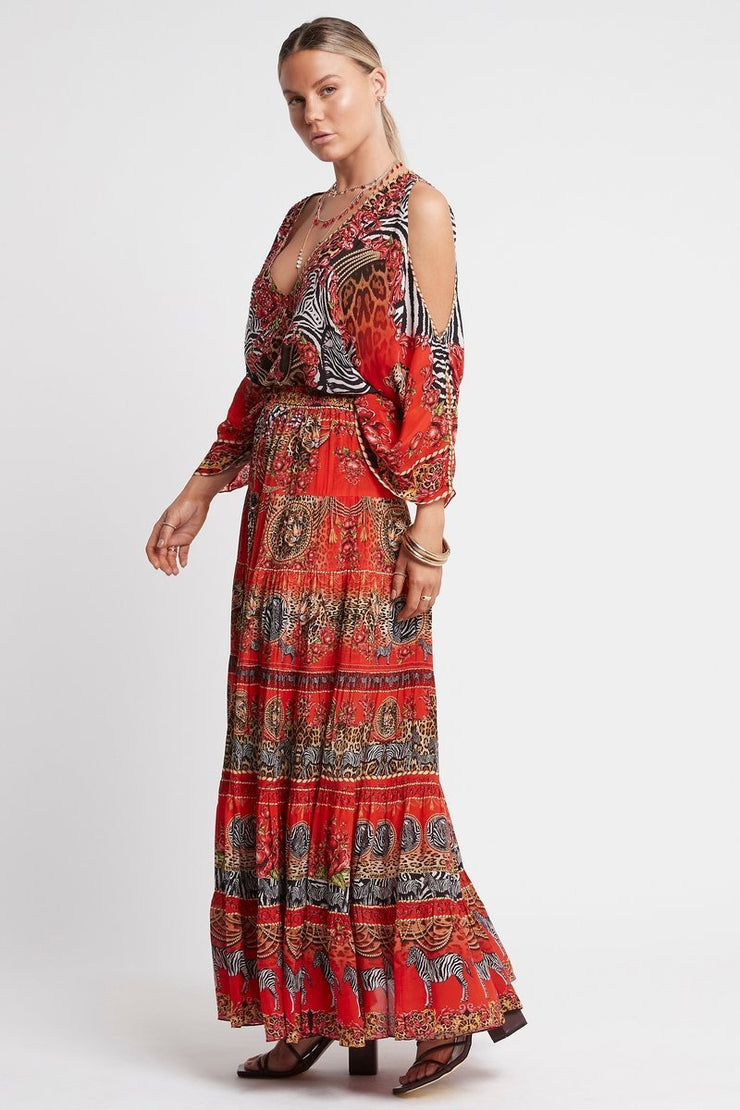 POWER AND PASSION MAXI SKIRT - Czarina