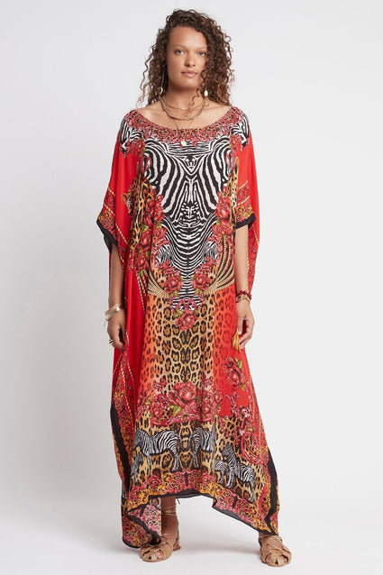 POWER AND PASSION ROUND NECK LONG KAFTAN - Czarina