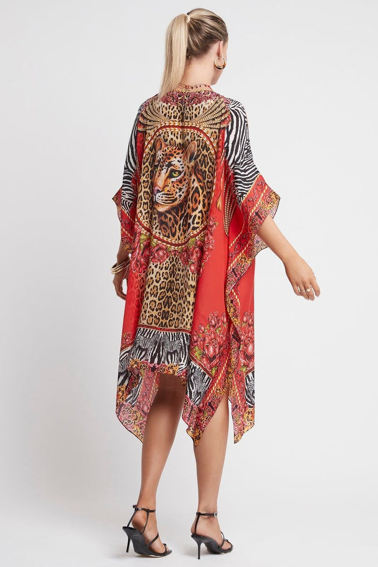 POWER AND PASSION SHORT KAFTAN W SLIT - Czarina