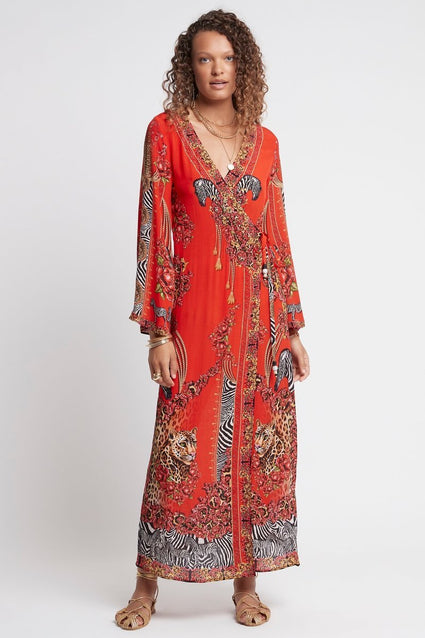 POWER AND PASSION WRAP DRESS - Czarina