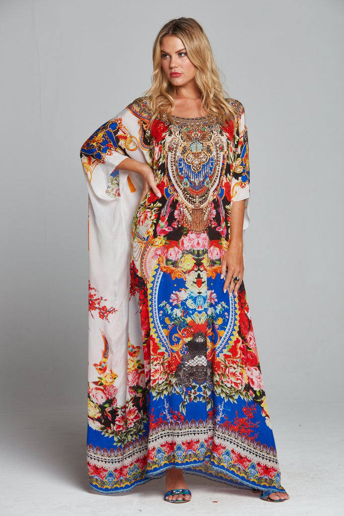 ROYAL PRINCESS ROUND-NECK LONG KAFTAN - Czarina