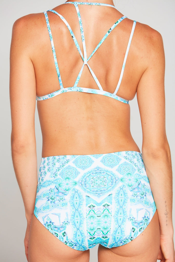 SHE'S A WILDFLOWER HIGH WAIST BIKINI BOTTOM - Czarina