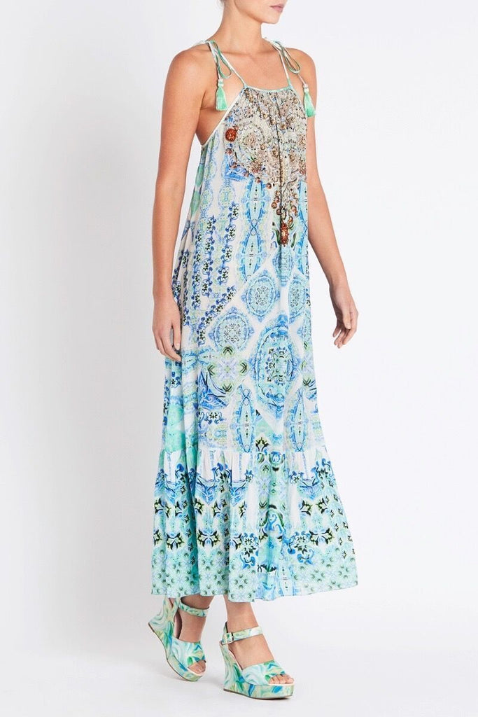 SHE'S A WILDFLOWER SHOE-STRING MAXI DRESS - Czarina