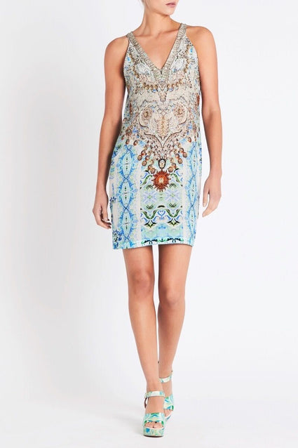 SHE'S A WILDFLOWER V-NECK SHORT DRESS - Czarina