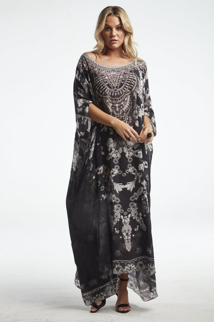 STILL I RISE ROUND-NECK LONG KAFTAN - Czarina