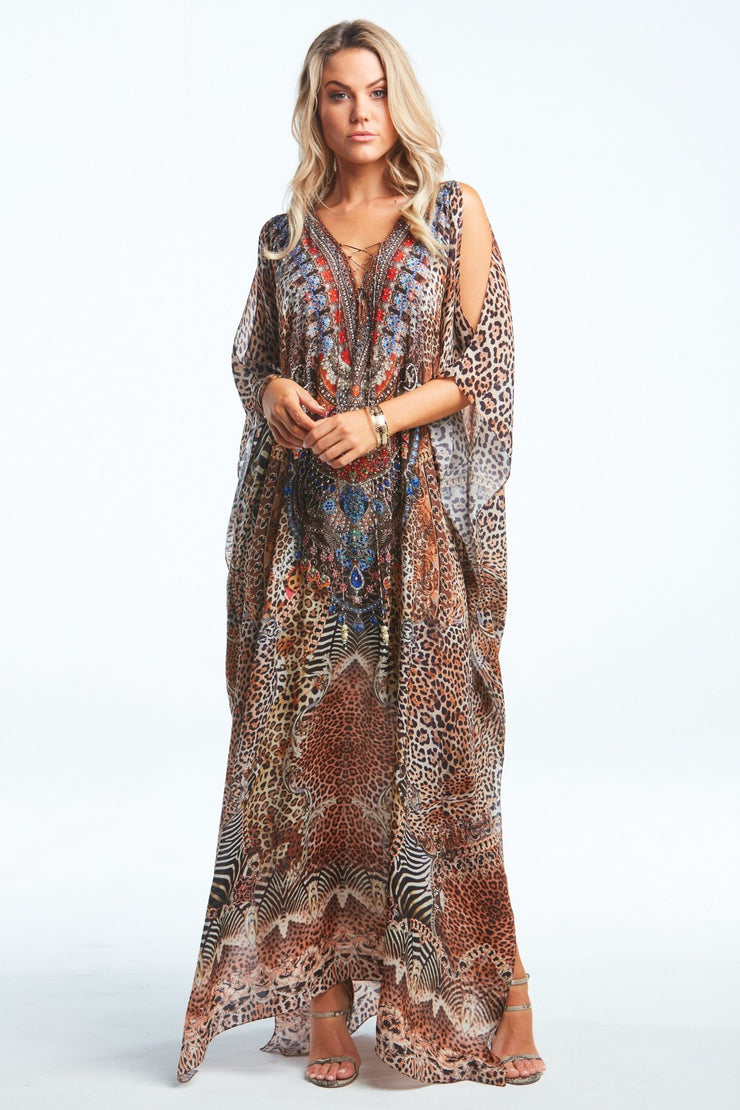 TEMPTATION LONG KAFTAN W SLIT - Czarina