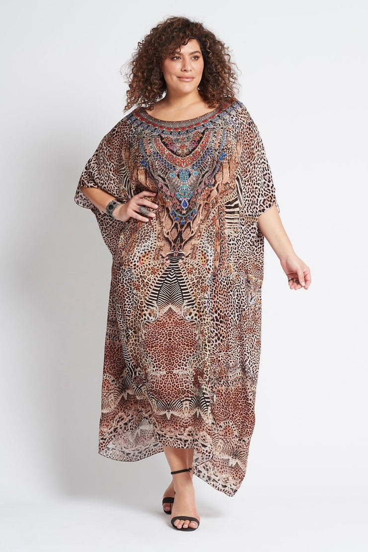 TEMPTATION ROUND-NECK LONG KAFTAN - Czarina