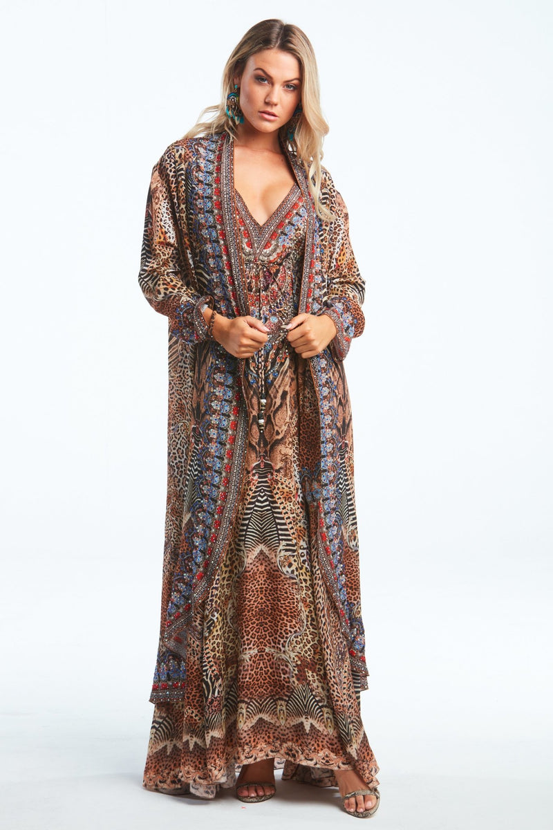 TEMPTATION SILK LONG JACKET - Czarina