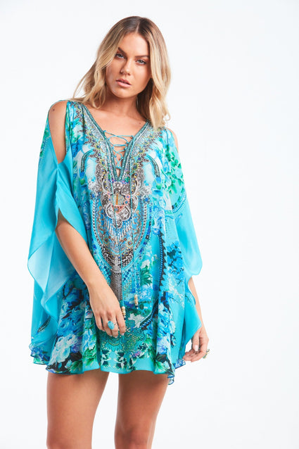 THOSE BLUE EYES BUTTERFLY TOP W SLIT - Czarina