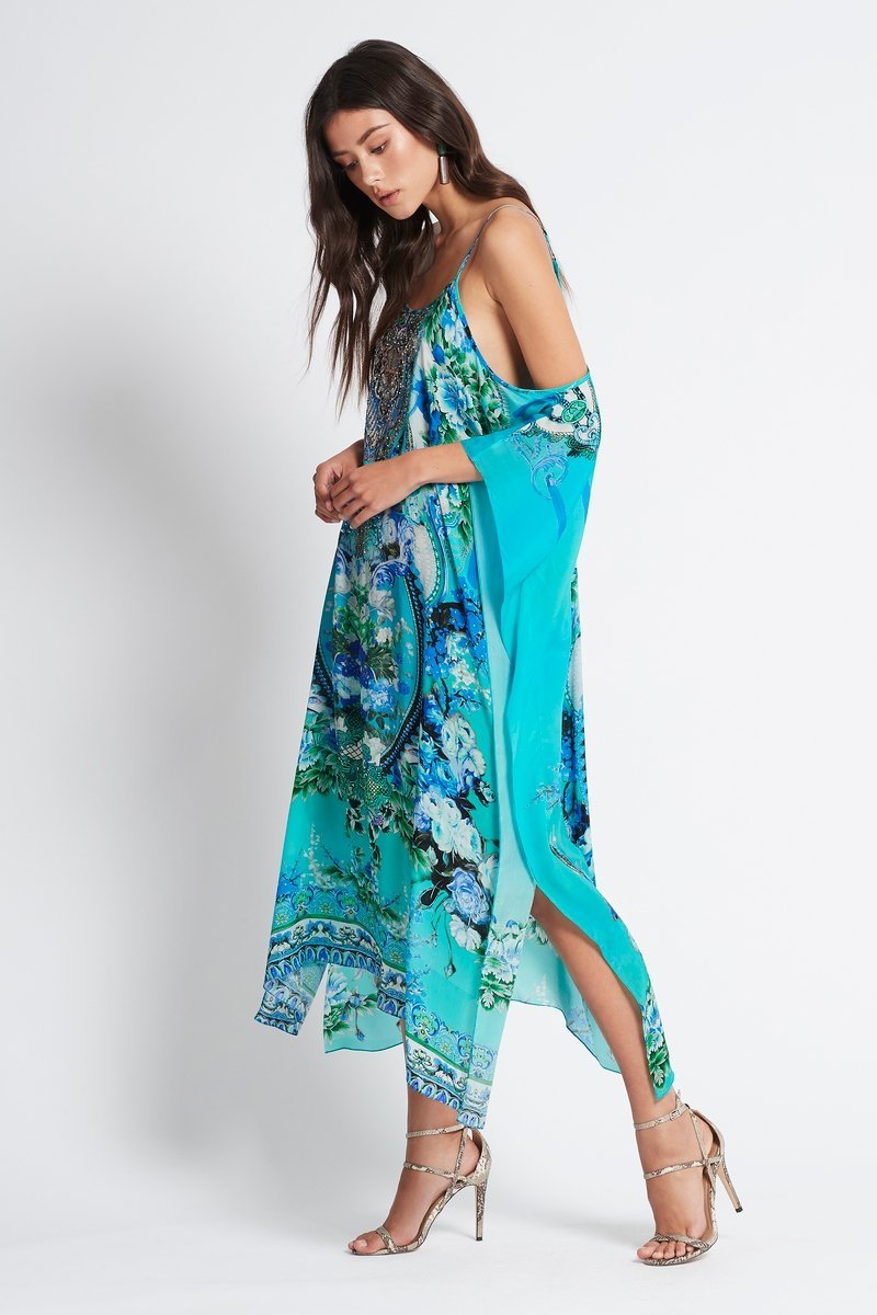 THOSE BLUE EYES COLD-SHOULDER MEDIUM KAFTAN - Czarina