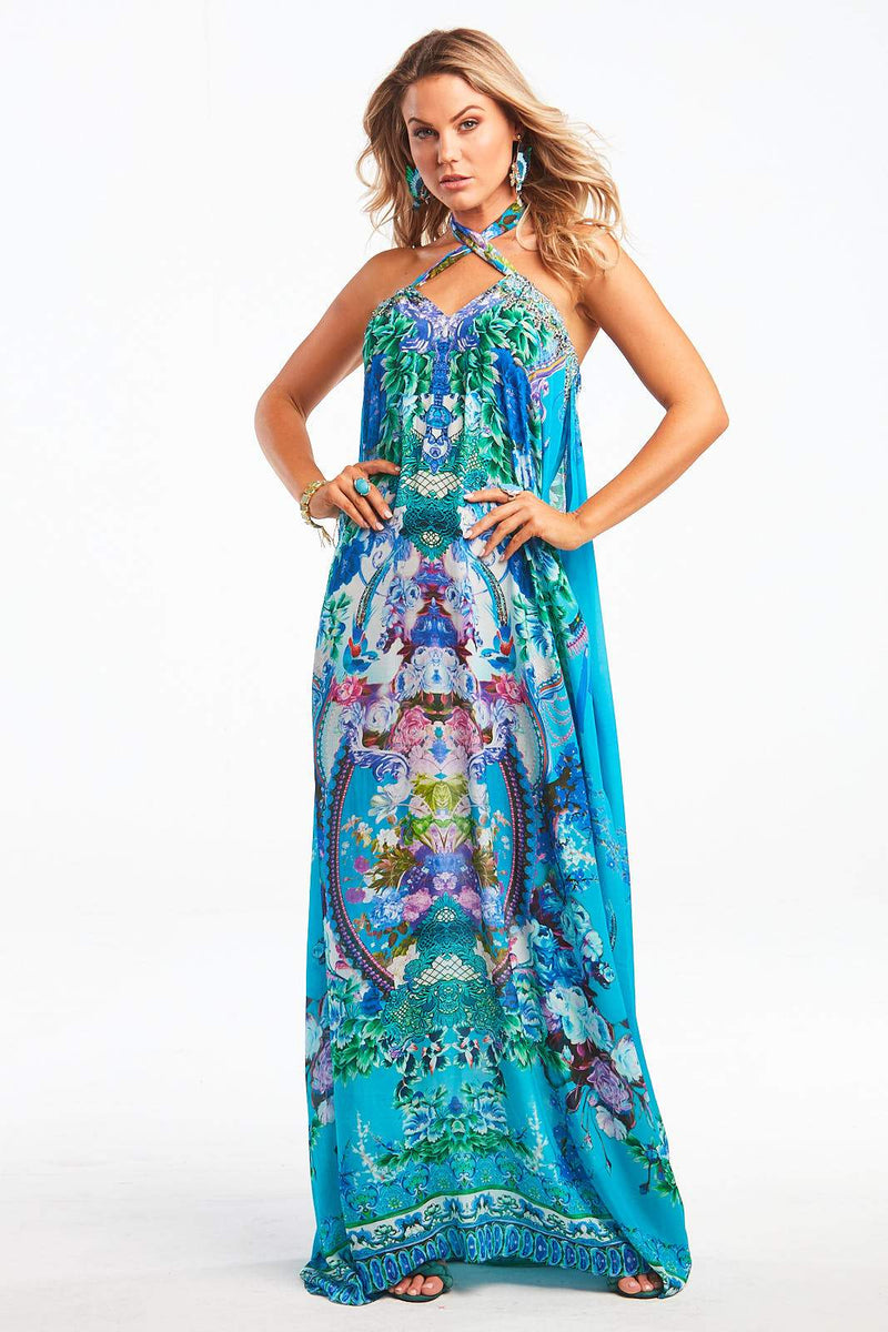 THOSE BLUE EYES DRAWSTRING DRESS - Czarina