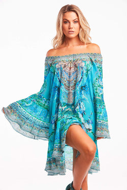 THOSE BLUE EYES FRILL DRESS - Czarina