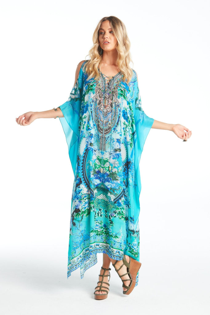THOSE BLUE EYES MEDIUM KAFTAN W SLIT - Czarina