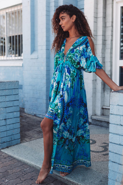 THOSE BLUE EYES ROBE DRESS - Czarina