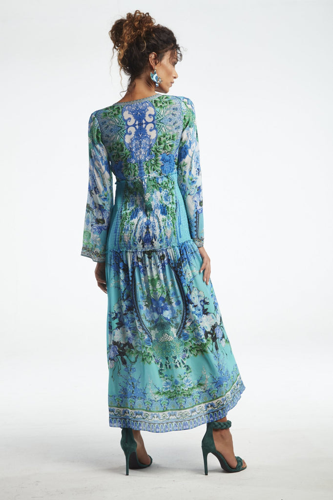 THOSE BLUE EYES SMOCKING DRESS - Czarina