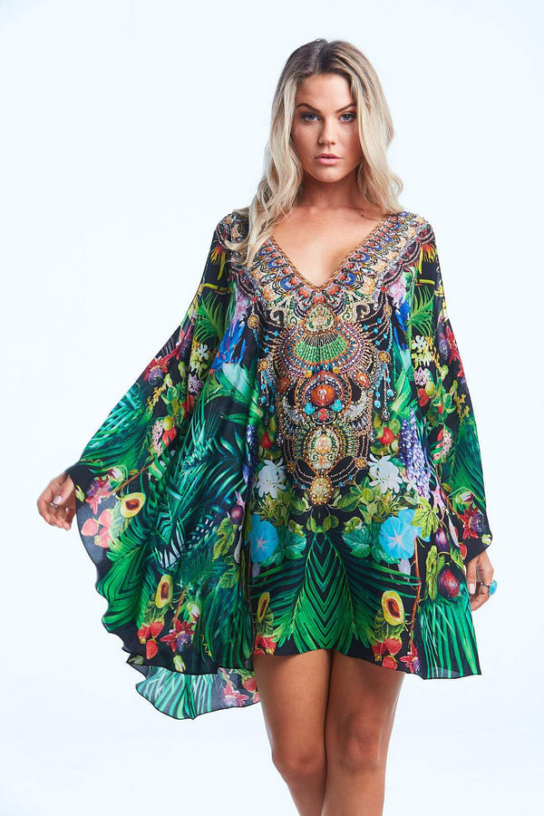TROPICAL LOVE KAFTAN DRESS - Czarina