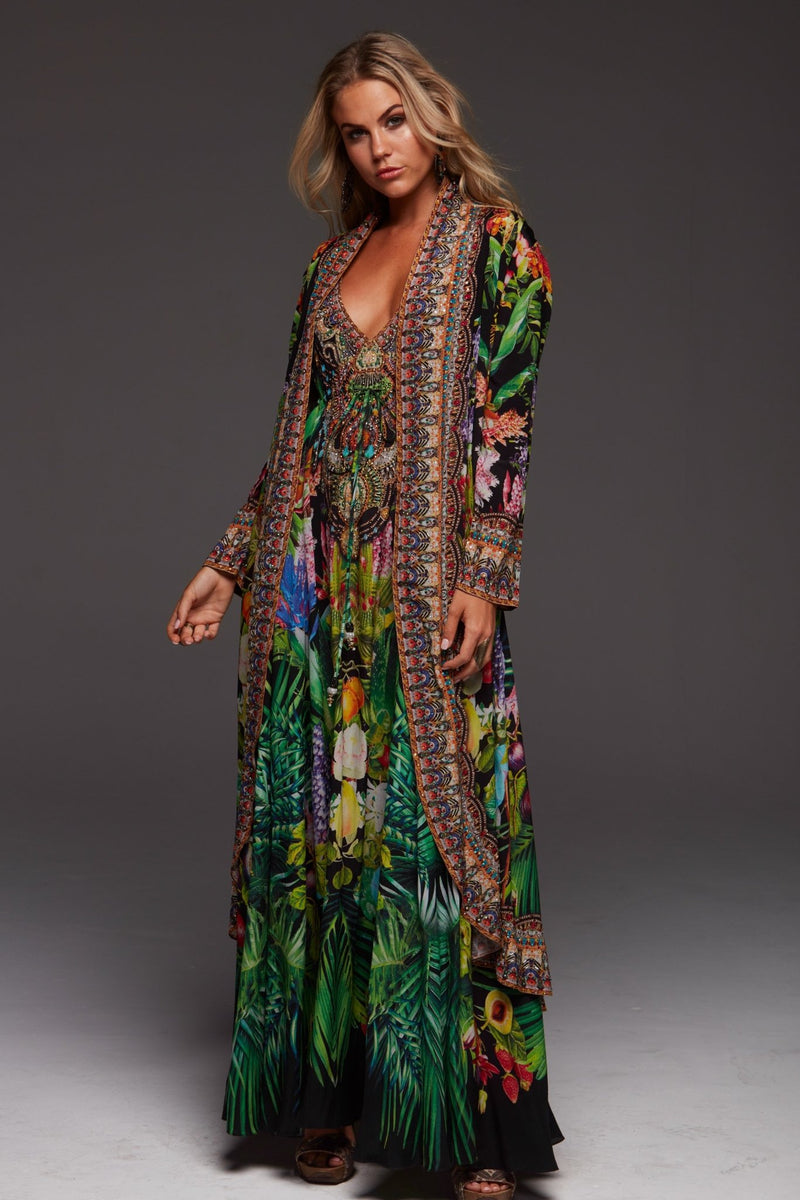 TROPICAL LOVE LONG JACKET - Czarina