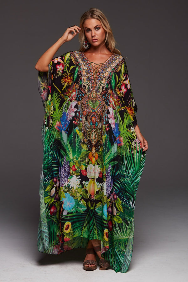 TROPICAL LOVE LONG KAFTAN - Czarina