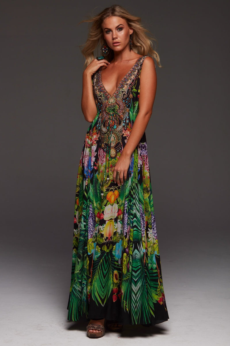 TROPICAL LOVE MAXI DRESS - Czarina