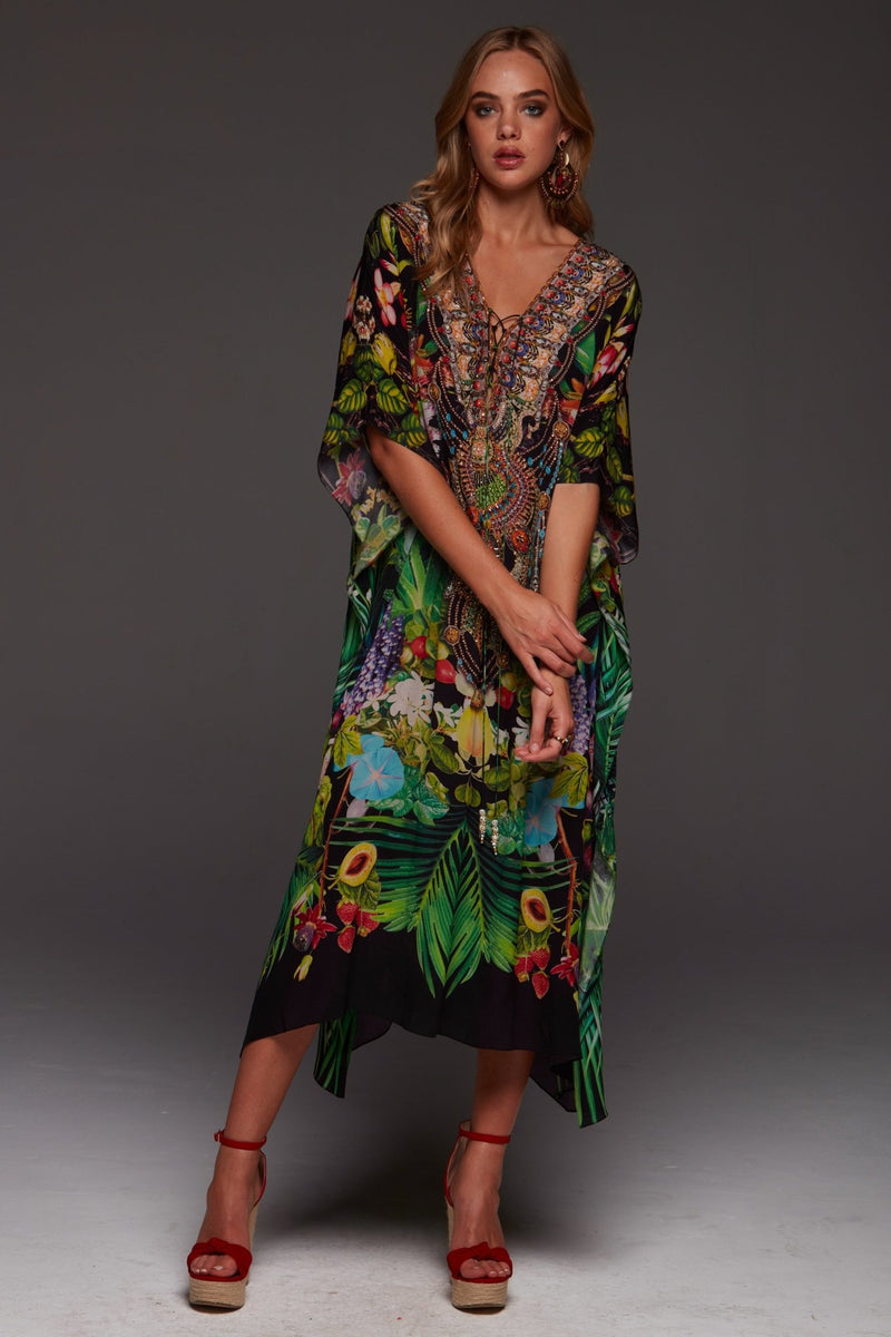 TROPICAL LOVE MEDIUM KAFTAN - Czarina