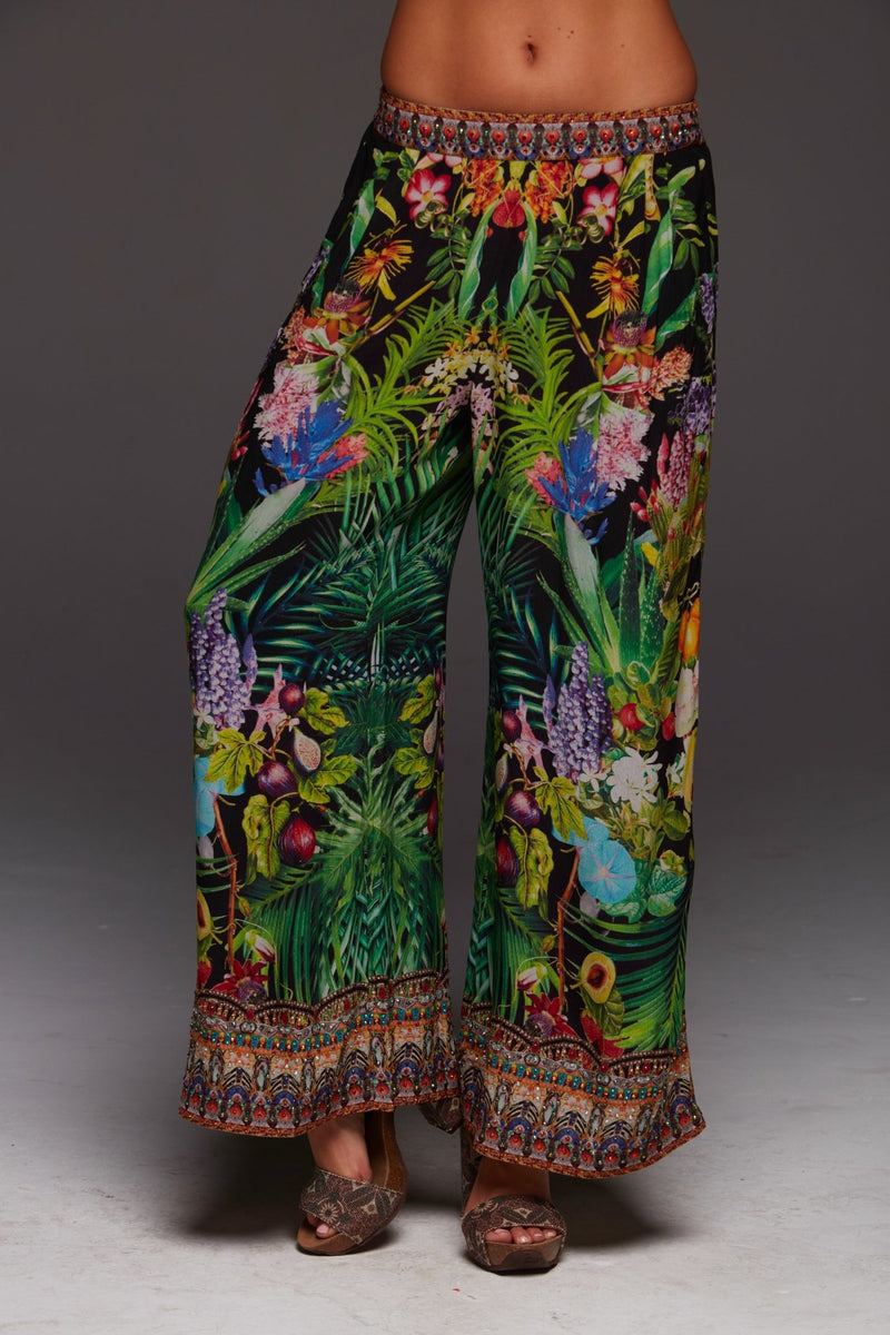 TROPICAL LOVE PALAZZO PANTS - Czarina