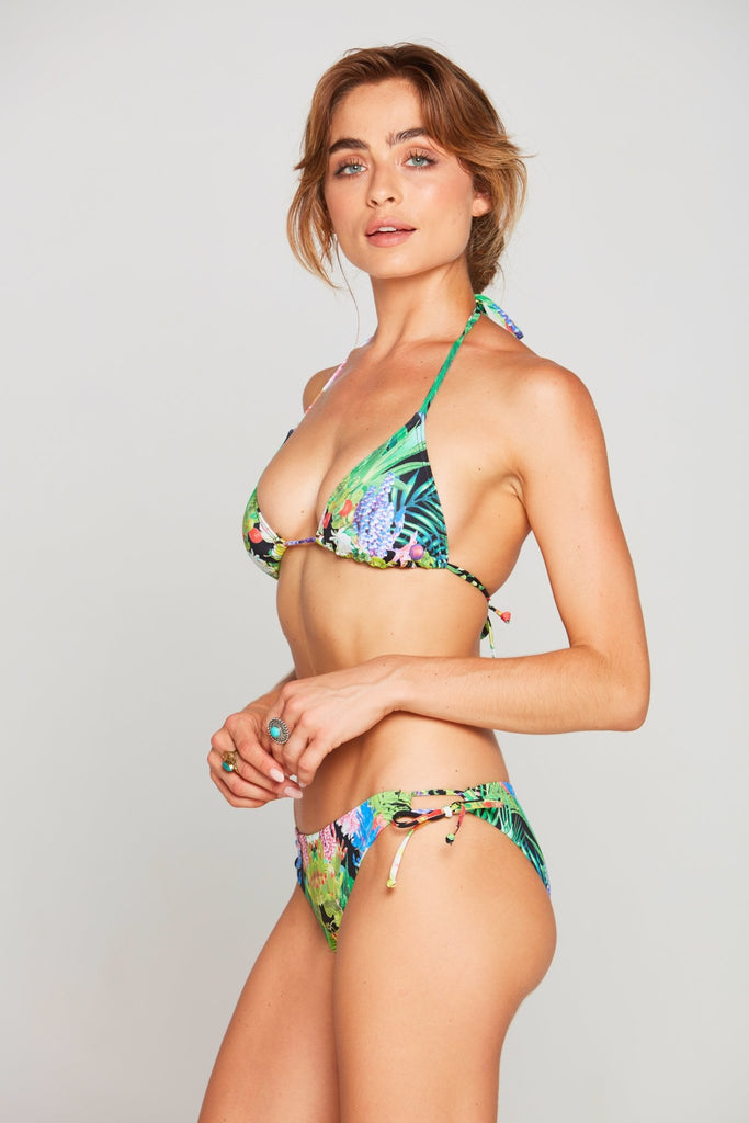 TROPICAL LOVE TIE SIDE BIKINI BOTTOM - Czarina