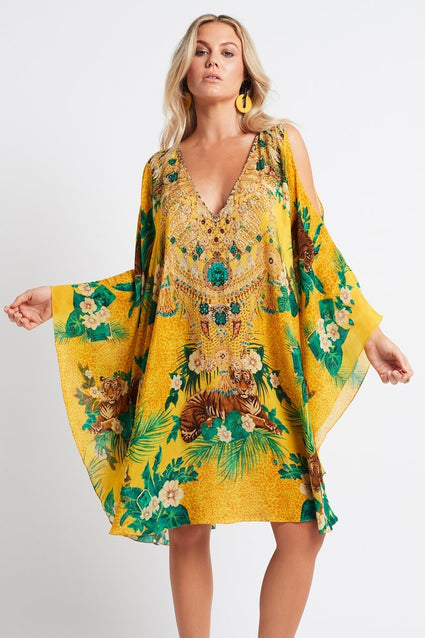 TROPICAL TIGRESS KAFTAN DRESS - Czarina