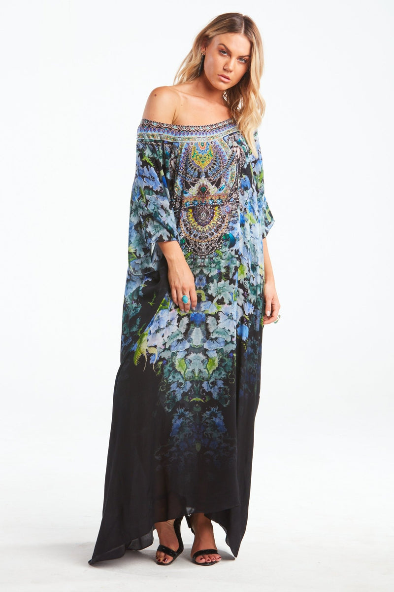 TRUE REFLECTIONS ROUND-NECK LONG KAFTAN - Czarina
