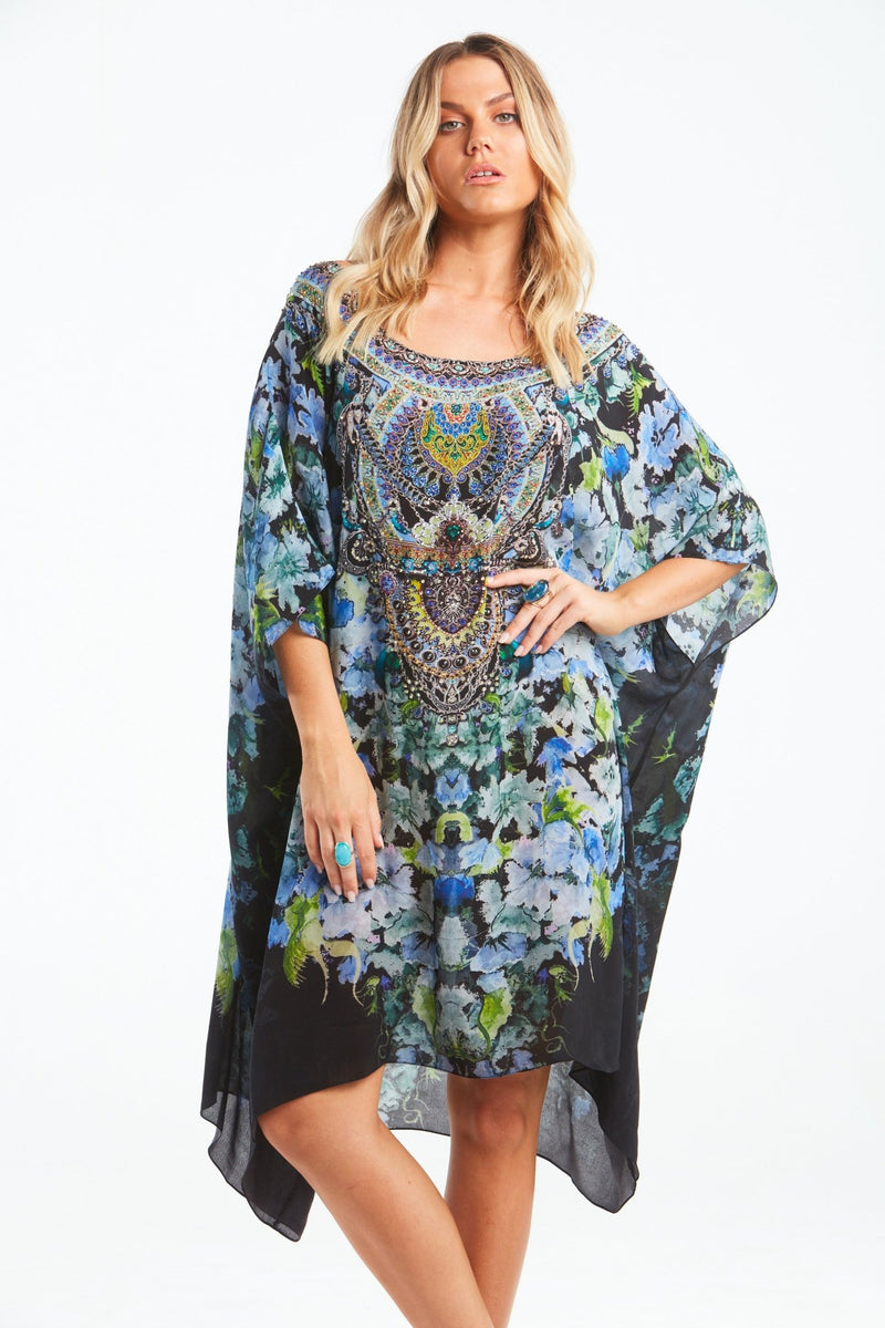 TRUE REFLECTIONS ROUND-NECK SHORT KAFTAN - Czarina