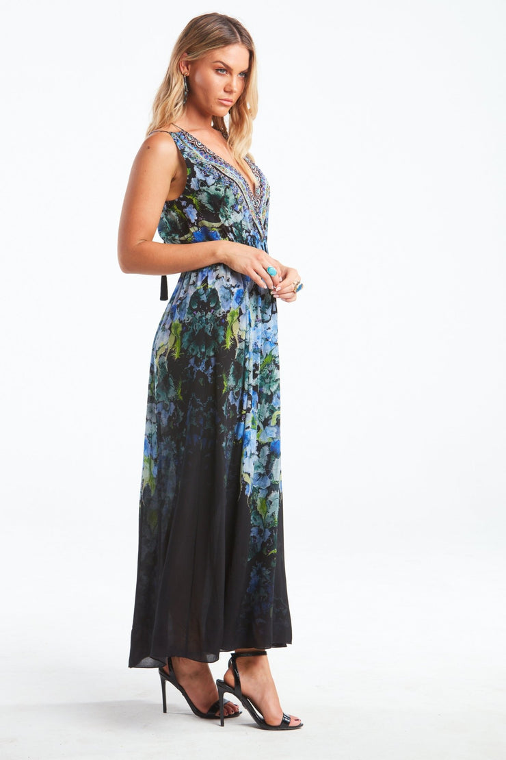 TRUE REFLECTIONS SHOE-STRING MAXI DRESS - Czarina