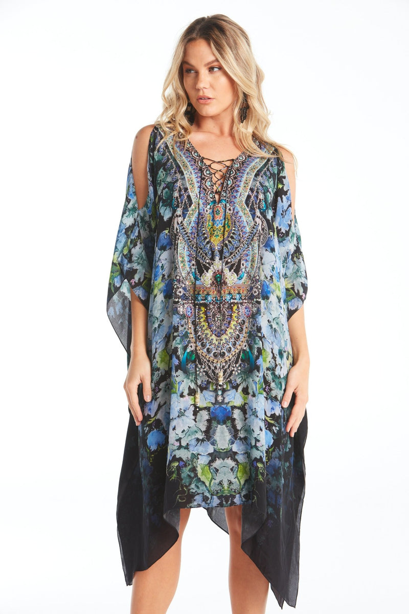 TRUE REFLECTIONS SHORT KAFTAN W SLIT - Czarina