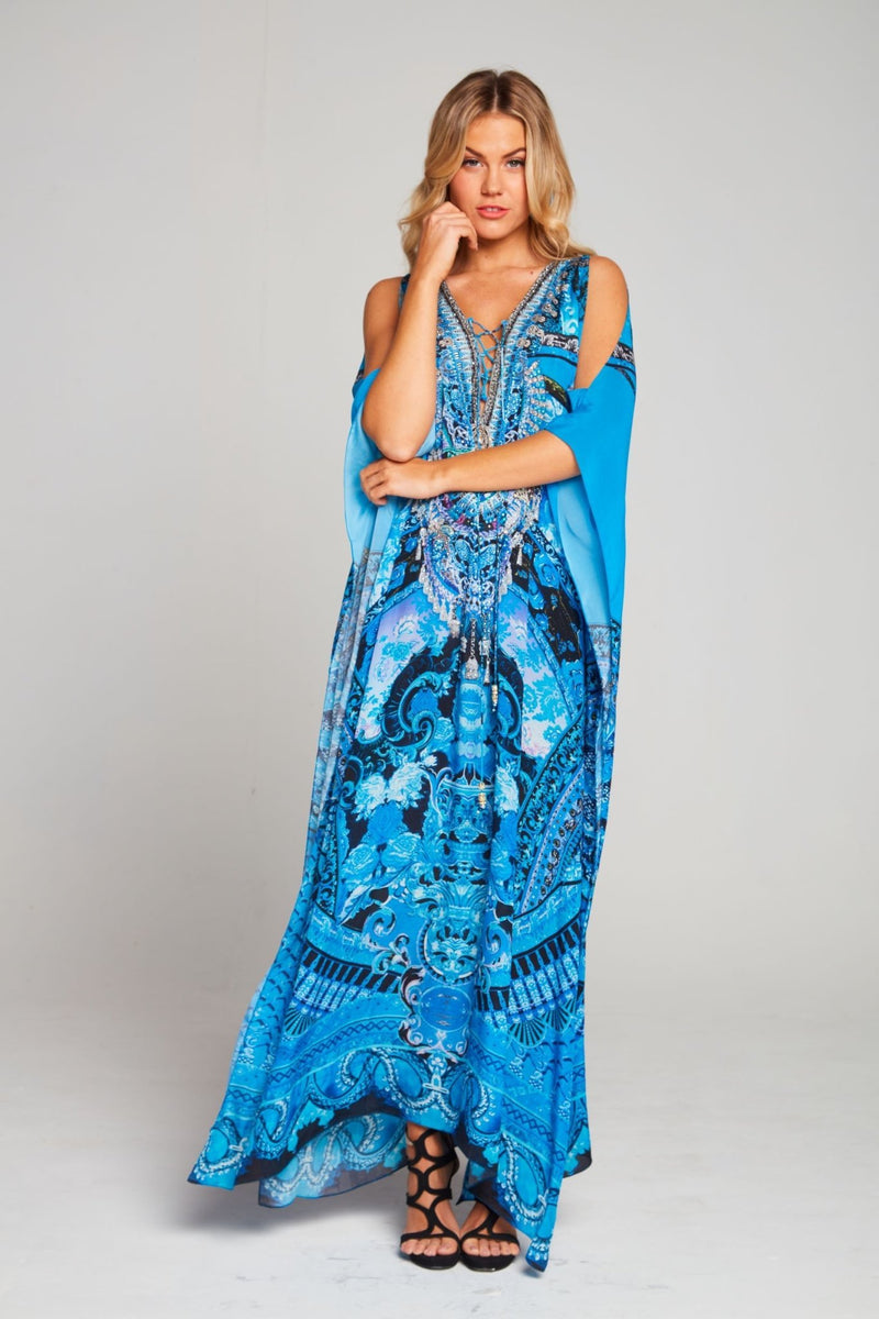UNFORGETTABLE LONG KAFTAN W SLIT - Czarina