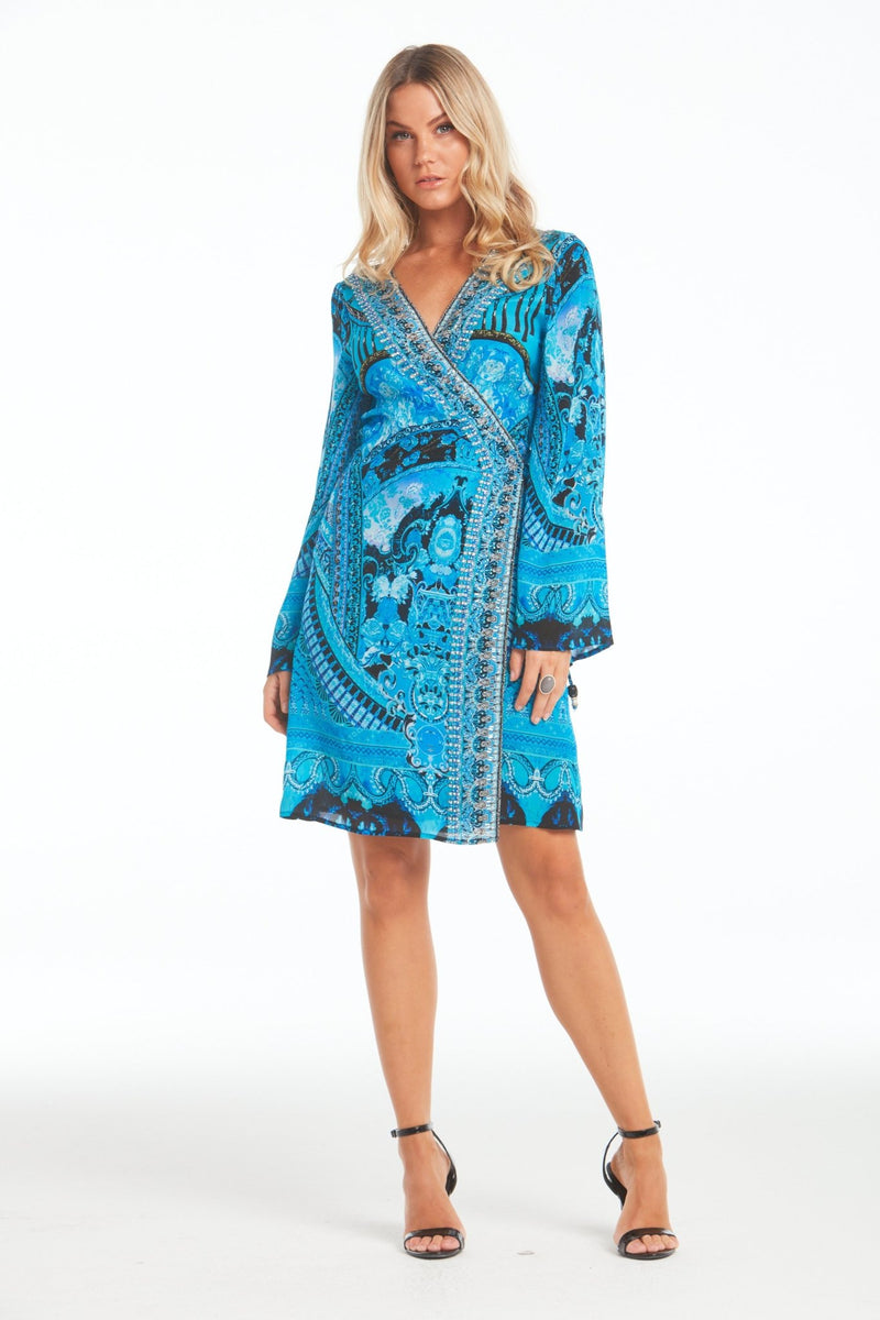 UNFORGETTABLE SHORT WRAP DRESS - Czarina