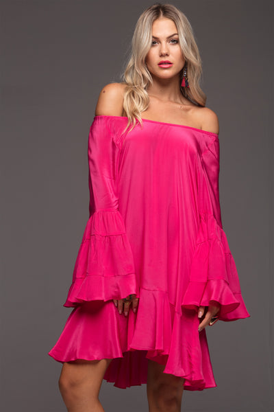 SIMPLY PINK FRILL DRESS