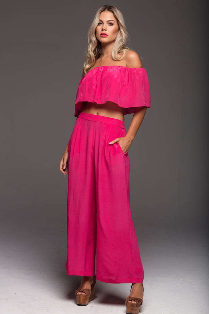 SIMPLY PINK RUFFLE TOP