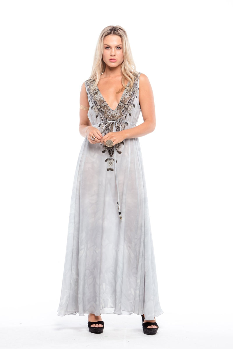 WHITE CHEROKEE MAXI DRESS - Czarina