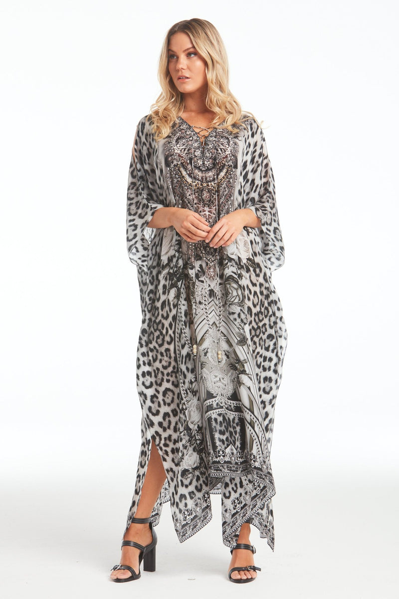 WILD AT HEART LONG KAFTAN W SLIT - Czarina