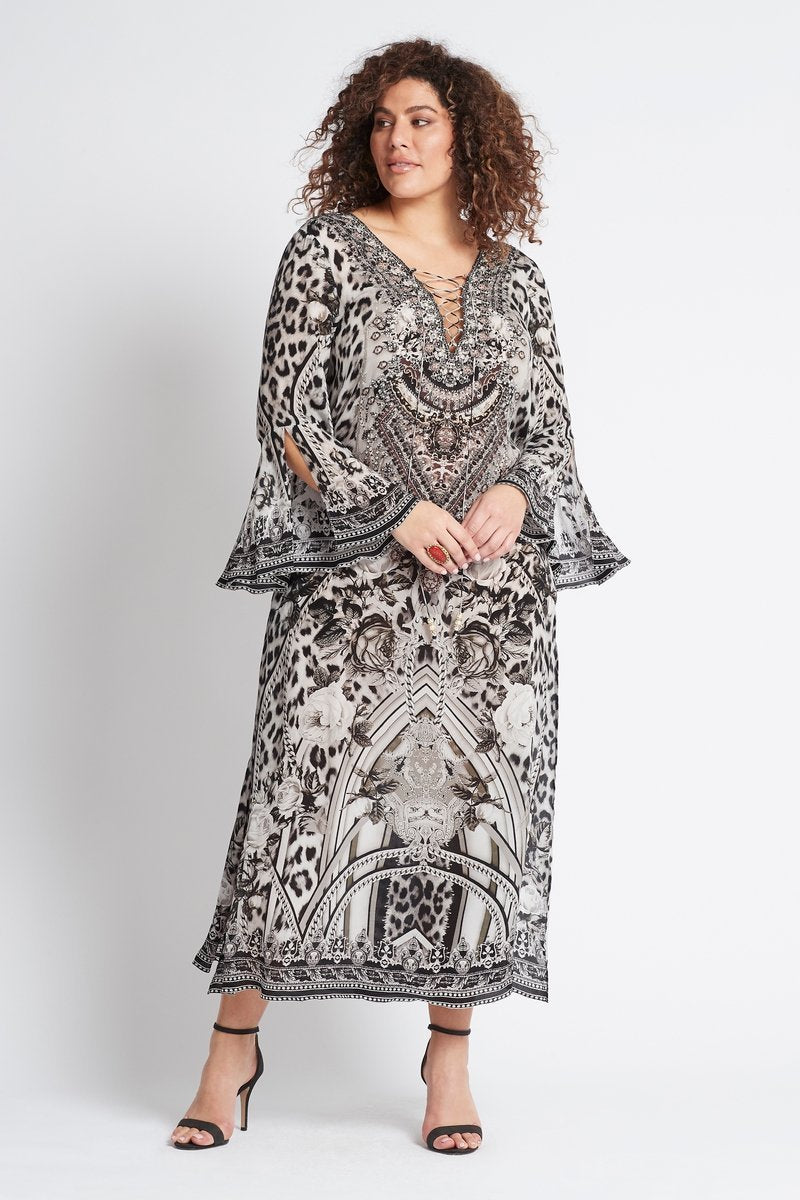 WILD AT HEART MAXI DRESS W SLEEVES - Czarina