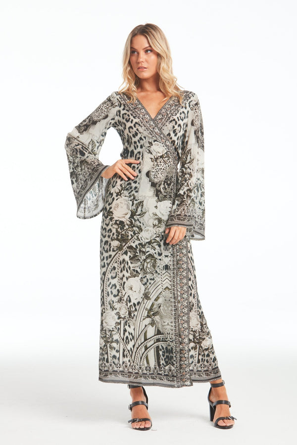 WILD AT HEART WRAP DRESS - Czarina