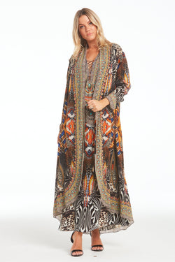 WILD LEOPARD LONG JACKET - Czarina