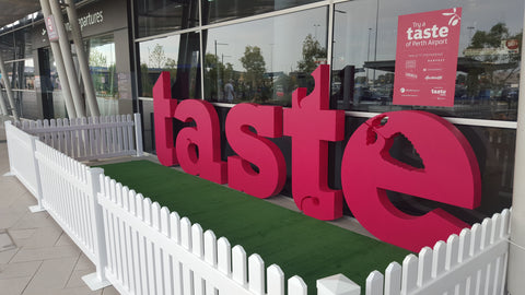 Taste of Perth: at T1 International Airport, signage by Foam Sales