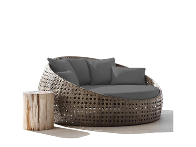 Round Outdoor Day Bed Custom Cushions - Foam Sales