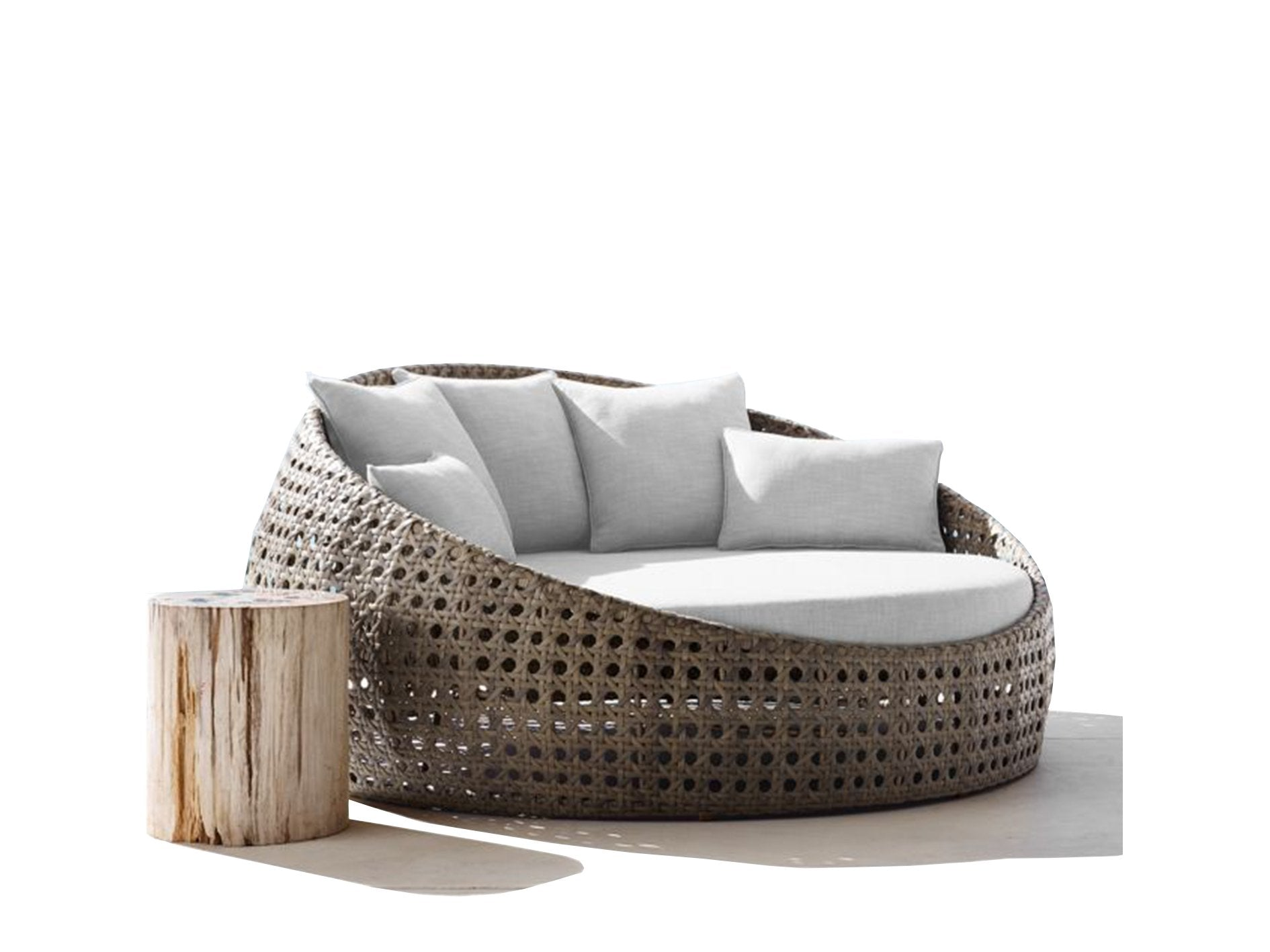 - Round Outdoor Day Bed Replacement Cushions - Foam Sales
