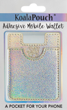 Glitter Koala Pouch - Phone Card Holder, Stick On Wallet (Holographic)